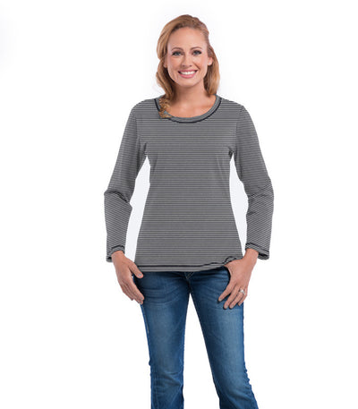 Myrtle Long Sleeve Women's Top - Charcoal/Cloud