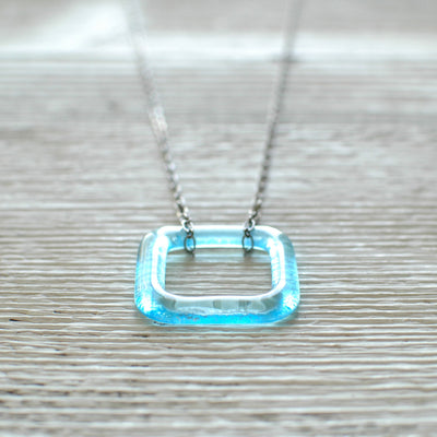 Bombay Gin Square Glass Necklace