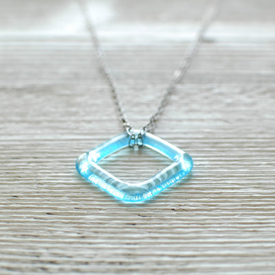 Bombay Gin Mini Square Recycled Necklace