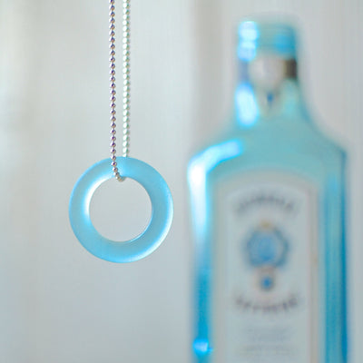Bombay Gin Bottle Ball Chain Necklace
