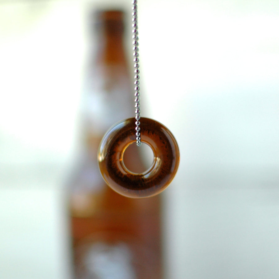 Upcycled Beer Bottle Ball Chain Necklace