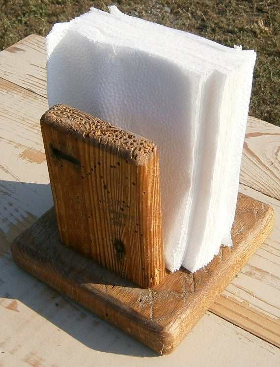 Reclaimed Wood Napkin Holder