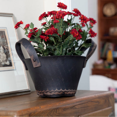 Large Recycled Rubber Basket with Handles