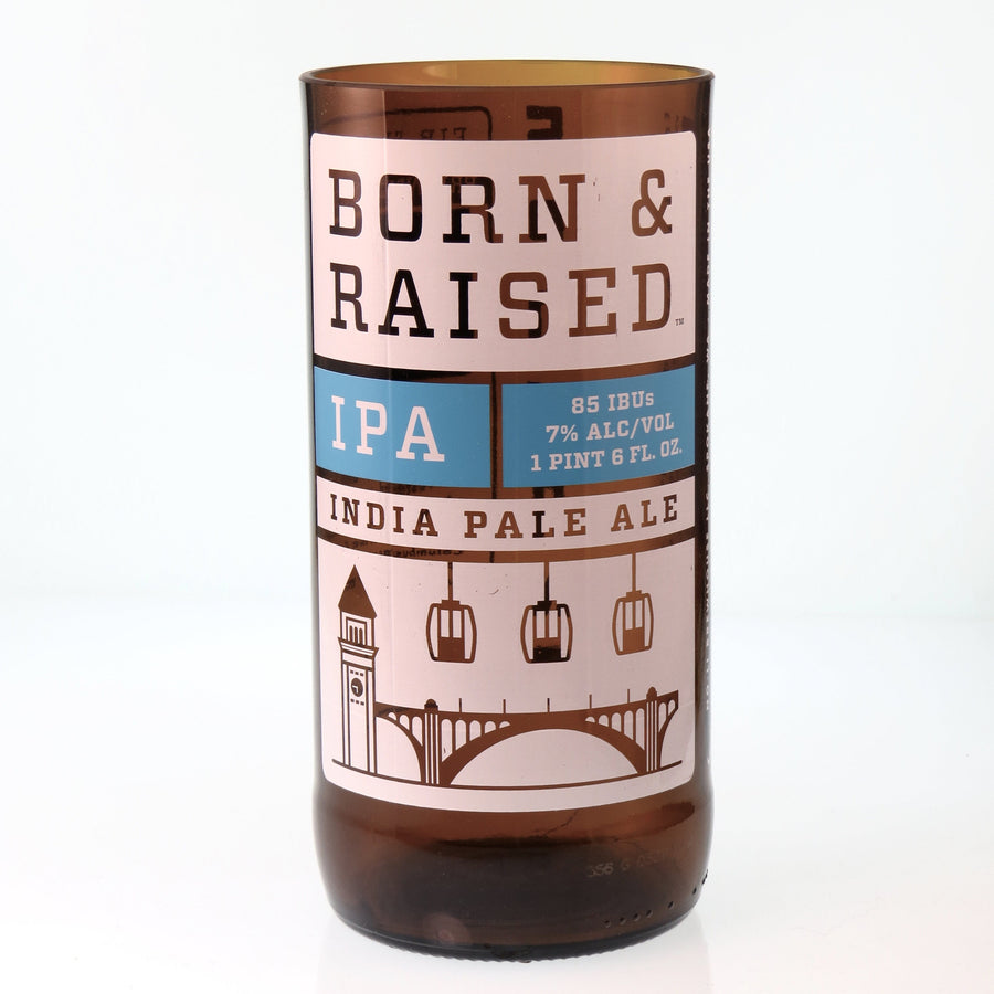 NoLi Born & Raised IPA Beer Bottle Glass