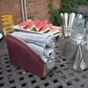 Offset Wine Barrel Napkin Holder