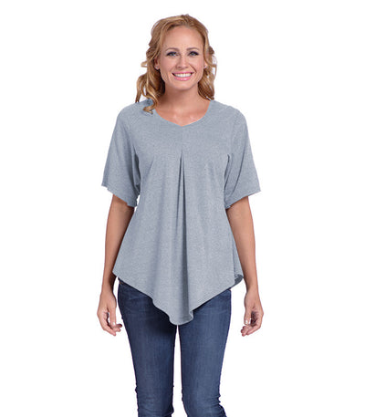 Pansy Women's Eco-Friendly Top - Ash