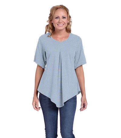 Pansy Women's Eco-Friendly Top - Chamblue/Cloud