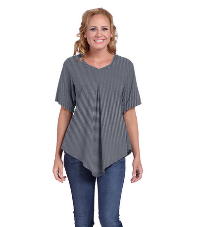 Pansy Women's Eco-Friendly Top - Charcoal/Ash