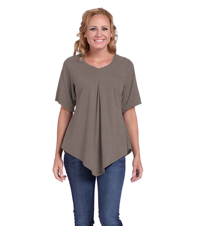 Pansy Women's Eco-Friendly Top - Charcoal/Sand