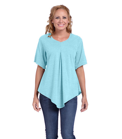 Pansy Women's Eco-Friendly Top - Turquoise