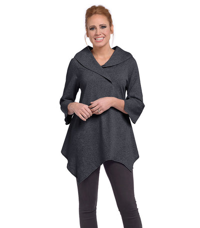 Paradiso Tunic Eco-Friendly Top - Charcoal