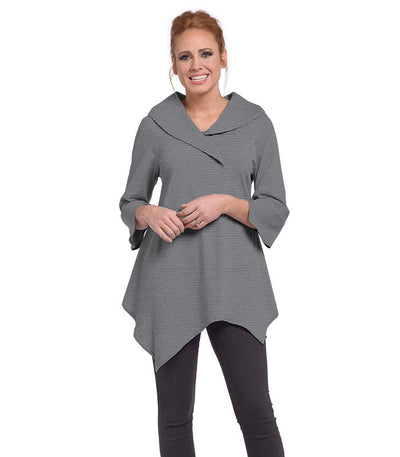 Paradiso Tunic Eco-Friendly Top - Charcoal/Cloud