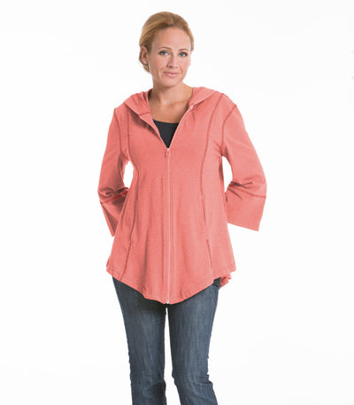 Passion Flower Swing Jacket - Coral