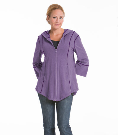 Passion Flower Swing Jacket - Lilac