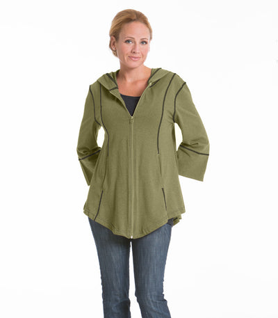 Passion Flower Swing Jacket - Olive