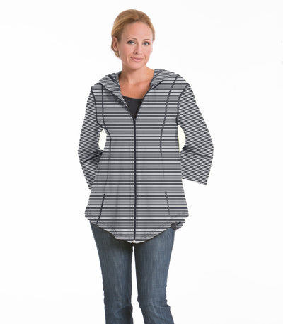 Passion Flower Swing Stripe Jacket - Charcoal/Cloud