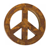 Reclaimed Metal Peace Sign