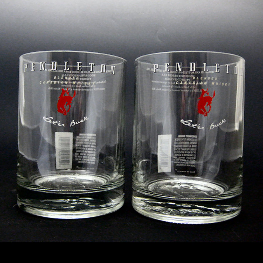 Pendleton Whisky Bottle Glasses