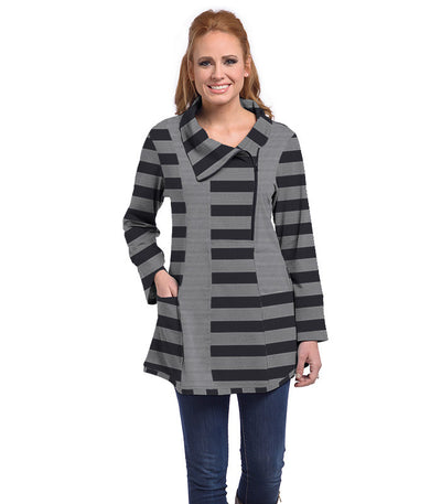 Petunia Tunic Eco-Friendly Top - Charcoal/Cloud