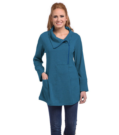 Petunia Tunic Eco-Friendly Top - Sapphire/Tide