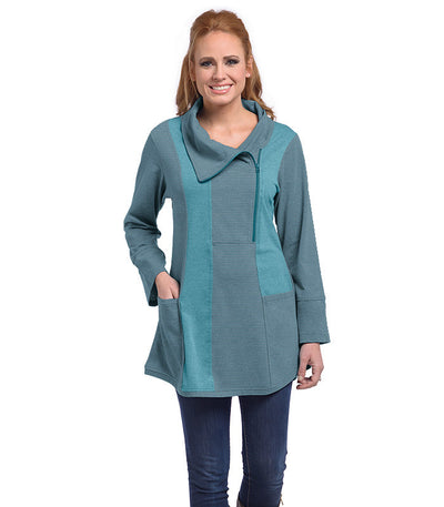Petunia Tunic Eco-Friendly Top - Tide/Ash