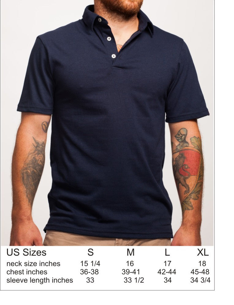 Men's Recycled Plastic Navy Polo Shirt