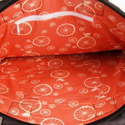 Rainier Bike Tube Tote Bag - Birdie Spoke Lining