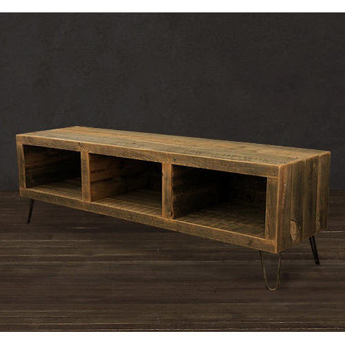 ... Reclaimed Wood 3 Compartment Media Console - Reclaimed Wood 65