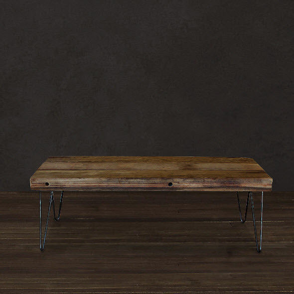 Reclaimed Picklewood Coffee Table With Steel Legs