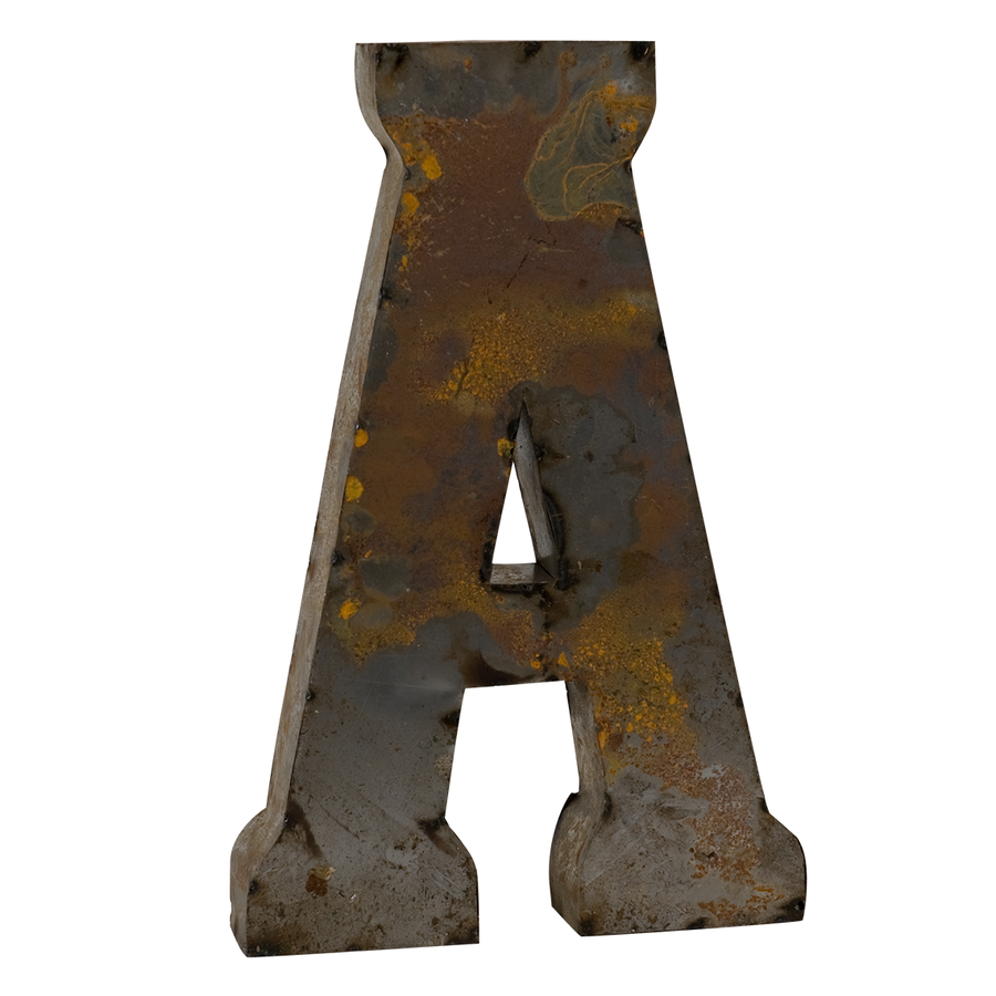 Reclaimed Tin Letter A