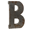 Reclaimed Tin Letter B