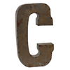 Reclaimed Tin Letter C