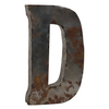 Reclaimed Tin Letter D