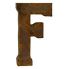 Reclaimed Tin Letter F