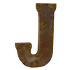 Reclaimed Tin Letter J