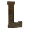 Reclaimed Tin Letter L