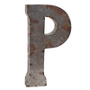 Reclaimed Tin Letter P