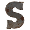 Reclaimed Tin Letter S