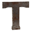 Reclaimed Tin Letter T