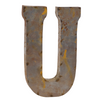 Reclaimed Tin Letter U
