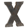Reclaimed Tin Letter X