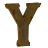 Reclaimed Tin Letter Y