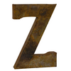 Reclaimed Tin Letter Z