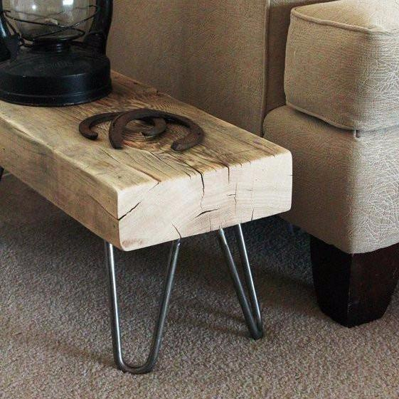 Reclaimed Wood Beam Bench