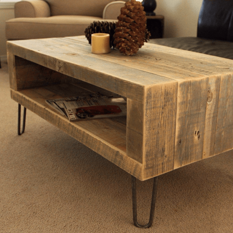 Coffee Table With Open Storage The Spotted Door