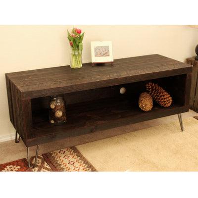 "Reclaimed Dark Wood 56"" Media Console"