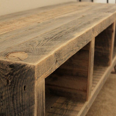 Reclaimed Wood Sectioned Media Console