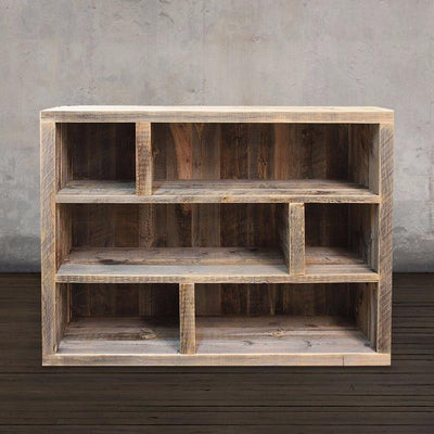 Reclaimed Wood Shelf with Adjustable Shelves