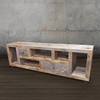 Modern Reclaimed Wood Television Stand