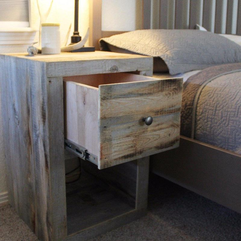 Reclaimed Wood Nightstand, End Table